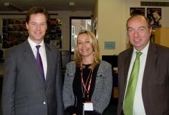 Norman, Nick Clegg & Cllr Sarah Osborne